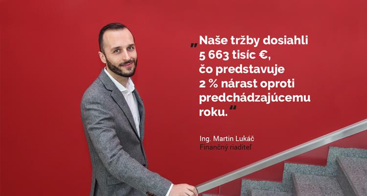 Martin Lukáč, finančný riaditeľ